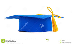 gold tassel graduation blue graduation cap with gold tassel stock photography image
