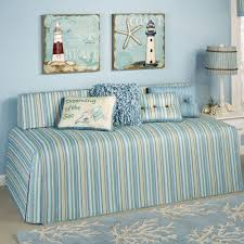 Beach Theme Quilt Clearwater Coastal Striped Hollywood Daybed Cover