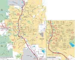 Colorado Map Of Cities by Colorado Springs Maps Colorado U S Maps Of Colorado Springs
