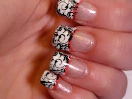 26 nail designs with french tip french tip nails with diamonds