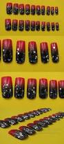 artificial nail tips 20 full well medium square nails black to
