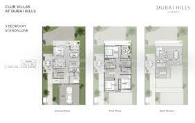 floor plans club villas dubai hills estate by emaar