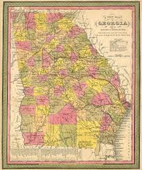 Georgia State Map by The Usgenweb Archives Digital Map Library Georgia Maps Index