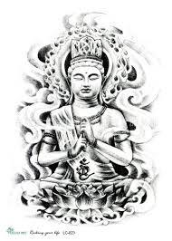 body art waterproof temporary tatoos for men boy buddha sketch