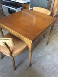 Fold Out Coffee Table Barnard U0026 Simonds Co Fold Out Table W 4 Chairs Solid Wood Ebay