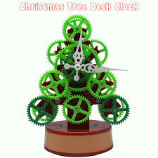shop 1pc creative tree table clock mini green