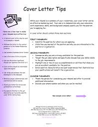 great cover letters samples writing an effective cover letter tips for a great cover letter
