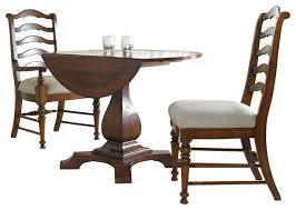 Drop Leaf Pedestal Table Hooker Furniture Waverly Place Round Drop Leaf Pedestal Table