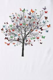 lyst outfitters arka butterfly tree in white for