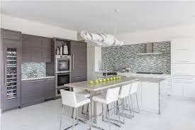 t shaped kitchen island modern kitchen ideas with white cushioned chairs and laminate