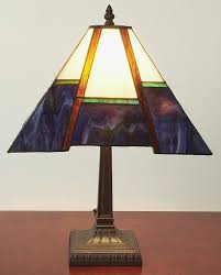 tiffany style blue mission style table lamp free shipping on