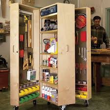 woodworking project paper plan to build swivel topped tool cabinet