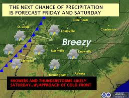 Tennessee Weather Map by The Weather Guy March 2011