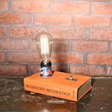Small Decorative Desk Lamp Vintage Book Lamp With Edison Bulb Writer Gift Bedside Lamp