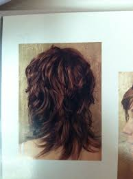wavy shag haircut back view curly hair pinterest haircuts