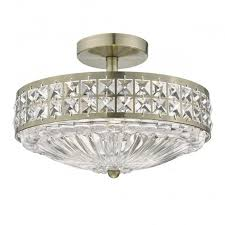 Semi Flush Ceiling Lights Olo5375 Olona 3 Light Semi Flush Ceiling Light Antique Brass