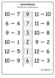 number matching addition worksheets matching worksheet generator