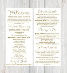 wedding itinerary for guests wedding weekend itinerary template template business