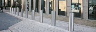 shallow mount security bollards ameristar security
