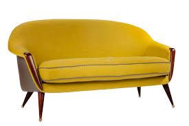 yellow mustard color retro style sofa sixties style antique mustard yellow color stock