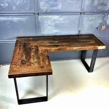 Diy L Desk Diy U Shaped Desk Lovely L Reclaimed Wood Intended For Wooden