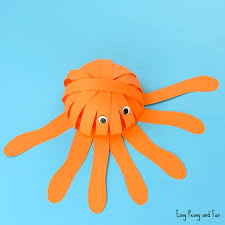 Easy Paper Craft For Kids - simple paper octopus craft summer crafts for kids easy peasy