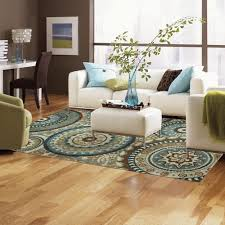 Teal Living Room Rug by New Modern Medallion Area Rug Teal Blue Brown Cream Living Room