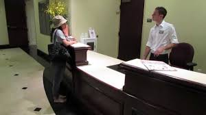 Front Desk Executive Means Service Demo Great Front Desk Customer Service Youtube