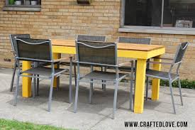 Yellow Patio Chairs by The Yellow Brick House Diy Patio Table Allison Affourtit
