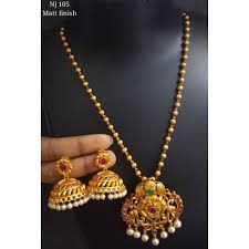 gold plated necklace images Gold plated necklace set at rs 5000 set gold plated necklace jpg