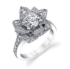 flower engagement rings the large crimson flower diamond engagement ring bbr607