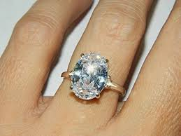 big stone rings images Silver zircon rings images jpg