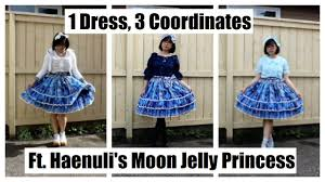 1 dress 3 coordinates ft haenuli u0027s moon jelly princess youtube