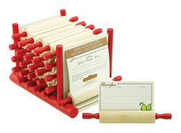 mountain woods 24 rolling pin recipe card holder