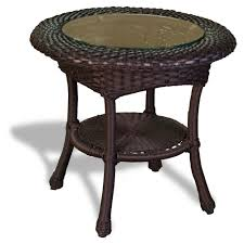 tortuga outdoor lexington wicker side table wicker com