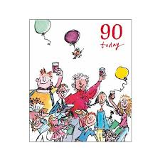 90th unisex birthday card u2013 quentin blake same day delivery