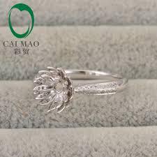 lotus flower engagement ring aliexpress buy lotus flower design hold 7mm cut gem