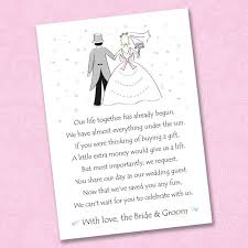 money registry wedding asking for gifts on wedding invitations how to ask for money on