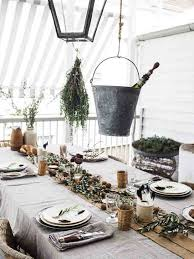 furniture design rustic christmas table settings