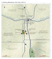 Canandaigua New York Map by Church History Maps