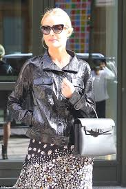 weave hair how in fife deaf got implant cochlear kate bosworth wears pretty floral mini dress and leather jacket in