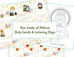 lady fatima holy cards u0026 coloring pdf catholic mommy