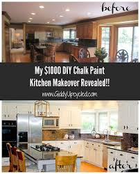 diy kitchen makeover ideas diy chalk paint kitchen cabinet makeover hometalk