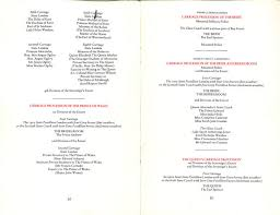 Programs For Wedding Photos Read The Entire Royal Wedding Program From Charles And