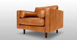 Scandinavian Leather Chairs Sven Charme Tan Chair Lounge Chairs Frame And Fabric Modern