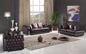 Genuine Leather Living Room Sets 2762 Sofa In Full Genuine Leather By Esf W Options