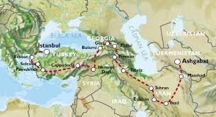 Istanbul World Map by Ashgabat To Istanbul 44 Days Persia And Caucasus Explorer
