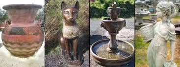 concrete garden and patio decor fountains statues planters
