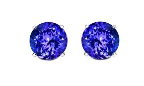 tanzanite stud earrings 2 00 ctw tanzanite stud earrings groupon goods