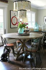 Farmhouse Dining Table Set Inspiring Round Farmhouse Dining Table And Chairs 66 With